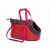 Hobbydog Bőr kutya hordozó táska - piros - 30x58cm