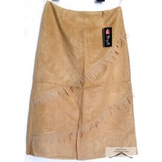 16 darab, homok színű és bézs, velúr hatású, rojtos, női selyemmel bélelt szoknya csomag, M-XXL-ig /kínai méretezés/ színenként 2 méretsor