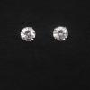 JewelOra Sterling ezüst fehér köves bedugós fülbevaló 6mm