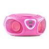 Auna auna Roadie, boombox, rózsaszín, CD, USB, MP3, FM/AM rádió, bluetooth 2.1, színes LED hatások