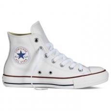 Converse Chuck Taylor All Star Hi Leather Unisex tornacipő, Fehér, 42 (132169C-8.5)
