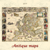 Kalendart Antique Maps, képes falinaptár 2017