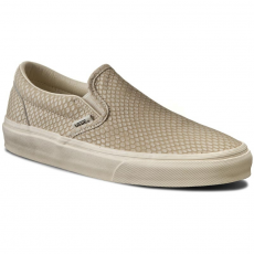 Vans Teniszcipő VANS - Classic Slip-On + VN0004OUIJC (Snake Leather) Antique White