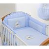Prémium babaágynemű garnitúra 2 részes hímzett huzat - Szíves maci kék