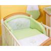 Prémium babaágynemű garnitúra 2 részes hímzett huzat - Álmos maci zöld
