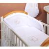 Prémium babaágynemű garnitúra 2 részes hímzett huzat - Álmos maci fehér