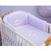 Prémium babaágynemű garnitúra 2 részes hímzett huzat - Szíves maci lila