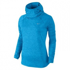 Nike Dri-Fit Element női kapucnis felső, Light Foto Blue, S (685818-436-S)