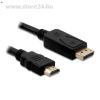 DELOCK Displayport -> HDMI M/M video jelkábel 2m fekete