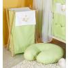 Prémium hímzett szennyes tároló - Álmos maci zöld