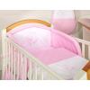 Babaágynemű garnitúra 3 részes hímzett huzat - Álmos maci rózsaszín