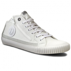 Pepe Jeans Tornacipő PEPE JEANS - Industry Zipper PMS30308 White 800