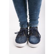 Impresszió Farmerszínű fűzős cipő