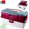 D.A.M TACKLE BOX - 3 LAYER & CLEAR TOP COMPARTMENT