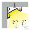 CORNER10 Alumínium profil LED szalaghoz 30°/60° beépítéshez