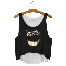 We Are All Mad Here Crop Top