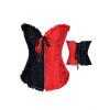 Fekete-Piros Cipzáros Halloween-i Fűző