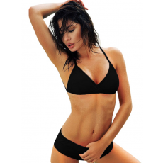 Fekete pántos bikini