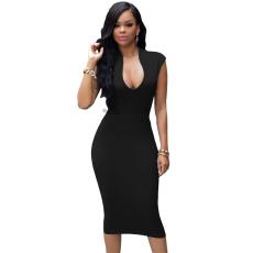 Fekete bőrhatású csipke ruha