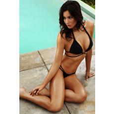 Sexy Fekete Vékony pántos Bikini