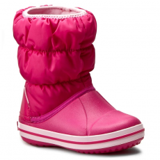 CROCS Hótaposó CROCS - Winter Puff Boot Kids 14613 Candy Pink