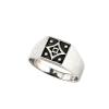 """""""Quadra"""" unisex, antikolt ezüst gyűrű, pecsétgyűrű jellegű kivitelben, mindennapi használatra"""