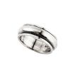 """""""Panta"""" forgó betétes, ezüst színű, unisex ezüst gyűrű (női változat, a termék tényleges kinézete a képen láthatónál """"zömökebb""""!)"""