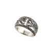 """""""Aion"""" valódi markazit köves antikolt ezüst gothic gyűrű, extra kis női méret"""
