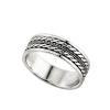 """""""Ubud"""" duplafonat mintás, kis részben antikolt, ezüst színű, férfi ezüst gyűrű (nem forgós!)"""