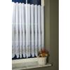 Fehér hímzett batiszt függöny, levendulás, Tihany méterben/0016/Cikksz:011140019