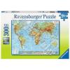 Ravensburger Puzzle Világtérkép, a Föld domborzata Ravensburger Puzzle XXL 300 db-os 49 x 36 cm