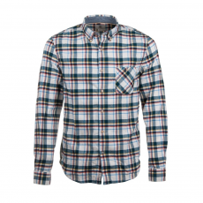 TIMBERLAND Long Sleeve Flanell Contemporary Plaid Shirt Ing D (A1B10-p_C14-Red Clay)