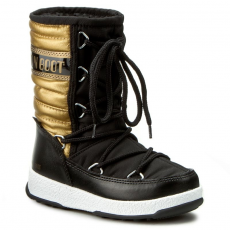 Moon Boot Hótaposó MOON BOOT - We Quilted Met Jr Wp 34051000001 Nero/Oro