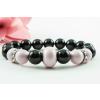 BBH Inspiration Swarovski mystic black/pastel rose karkötő, kristály dísszel