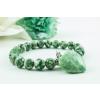 BBH Inspiration Zöld pettyes jáde karkötő, zöld pettyes jáde szív medállal