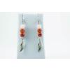 BBH Inspiration Életerő fülbevaló nagyalszárny medállal karneolól, jáspisból és rózsakvarcból