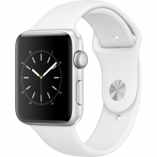 Apple Apple Watch Series 2 Aluminium Case Black 42mm - White Sport Band okosóra