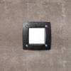 Fumagalli LETI 100 SQUARE süllyeszett panellámpa  GX53 fekete test - opál üveg 4000K (Panellámpa)
