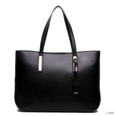Miss Lulu London L1435 - Miss Lulu nagyméretű válltáska bevásárló táska táska fekete