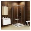 Ravak Blix BLRV2-80 sarokbelépős zuhanykabin fényes alumínium  kerettel, transparent üvegbetéttel