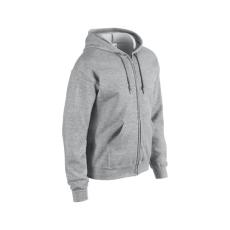 GILDAN cipzáros pulóver kapucnival, sportszürke