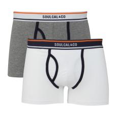 SoulCal Plain férfi alsónadrág fehér XL