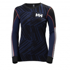 Helly Hansen W HH Active Flow Graphic Ls Sport aláöltöző D (48462-p_689 Evening Blue)