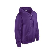 GILDAN cipzáros pulóver kapucnival, lila