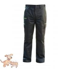 Julius-K9 K9 pamut nadrág, fekete-neon, cipzározható szárral - impregnált, - méret 38