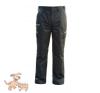 Julius-K9 K9 pamut nadrág, fekete-neon, cipzározható szárral - impregnált, - méret 54 férfi nadrág