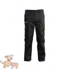 Julius-K9 K9 pamut nadrág, fekete-bézs, cipzározható szárral - impregnált, - méret 38