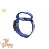 Julius-K9 K9 textil fogós nyakörv feliratmezővel - 50 mm széles, színe kék