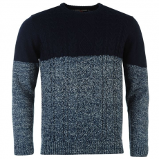 Lee Cooper férfi pulóver - Lee Cooper Cable Knitted Jumper