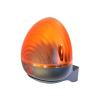 Tecno TCLAMP230-N TECNO 230 Vac villogó, állítható villogási frekvencia, 30 / 60 / 90 villanás/perc, izzó 230 Vac/ 20 W E14, fekete ház, sárga búra